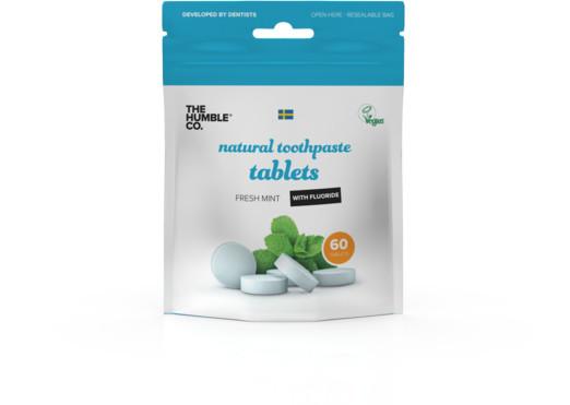Humble Brush Humble Pasta do zębów w tabletkach z fluorem 60szt. - tabletki do mycia zębów