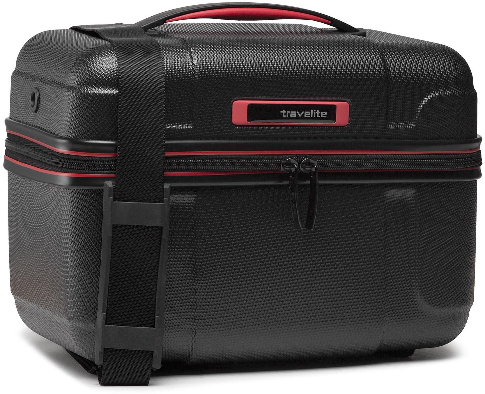 Travelite Kuferek Vector 72003-01 Schwarz/Rot
