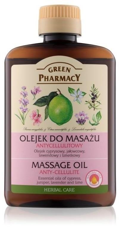 GREEN PHARMACY Massage Oil olejek do masażu ciała antycellulitowy Cyprys Jałowiec Lawenda i Limonka 200ml 79002-uniw
