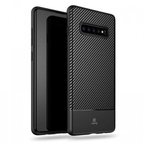 Prestige Crong Carbon Cover - Etui Samsung Galaxy S10+ (czarny)