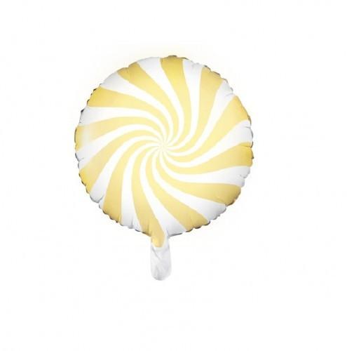 PARTYDECO Balon foliowy Candy - Cukierek, jasny żółty BFOL/2999-9
