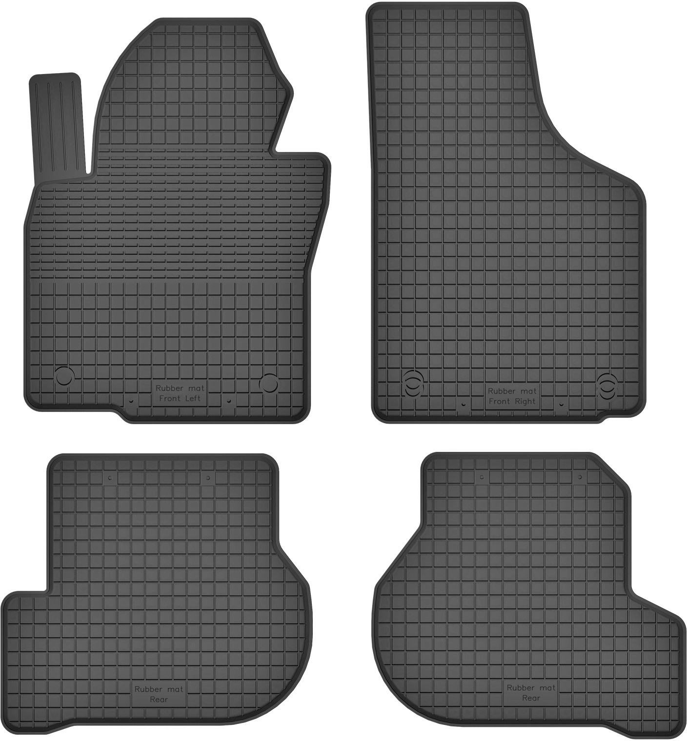 MotoHobby Skoda Octavia II (2004-2013) -dywaniki gumowe korytkowe