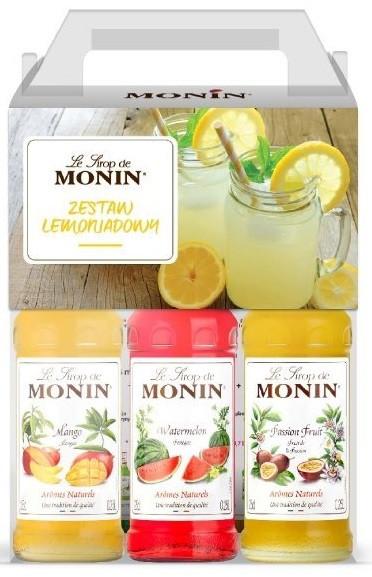 Monin Zestaw syropów do lemoniady 3x250ml MON.S.ZES.LEM.250