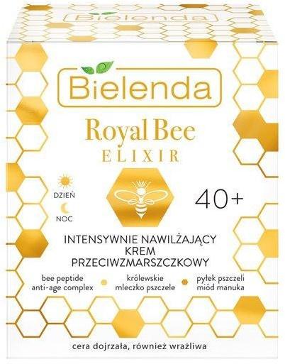 Bielenda ROYAL BEE ELIKSIR Intensywnie nawilżający krem do twarzy przeciwzmarszczkowy 40 +, 50 ml 22159