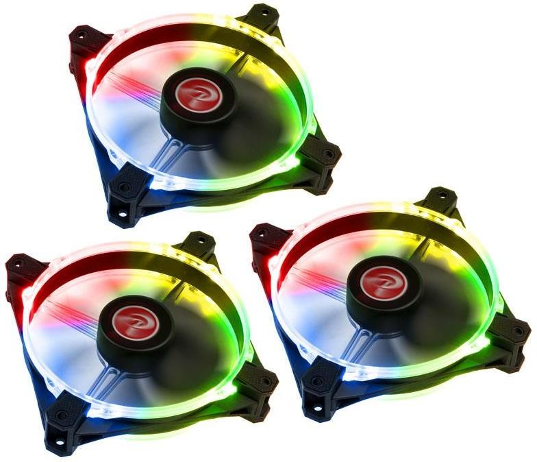 Raijintek Raijintek Macula 12 Rainbow LED RGB 120mm 3set 0R400059