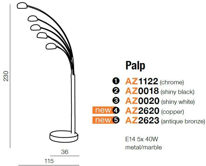 Azzardo Lampa stojąca PALP vintage AZ2620 LED AZ2620