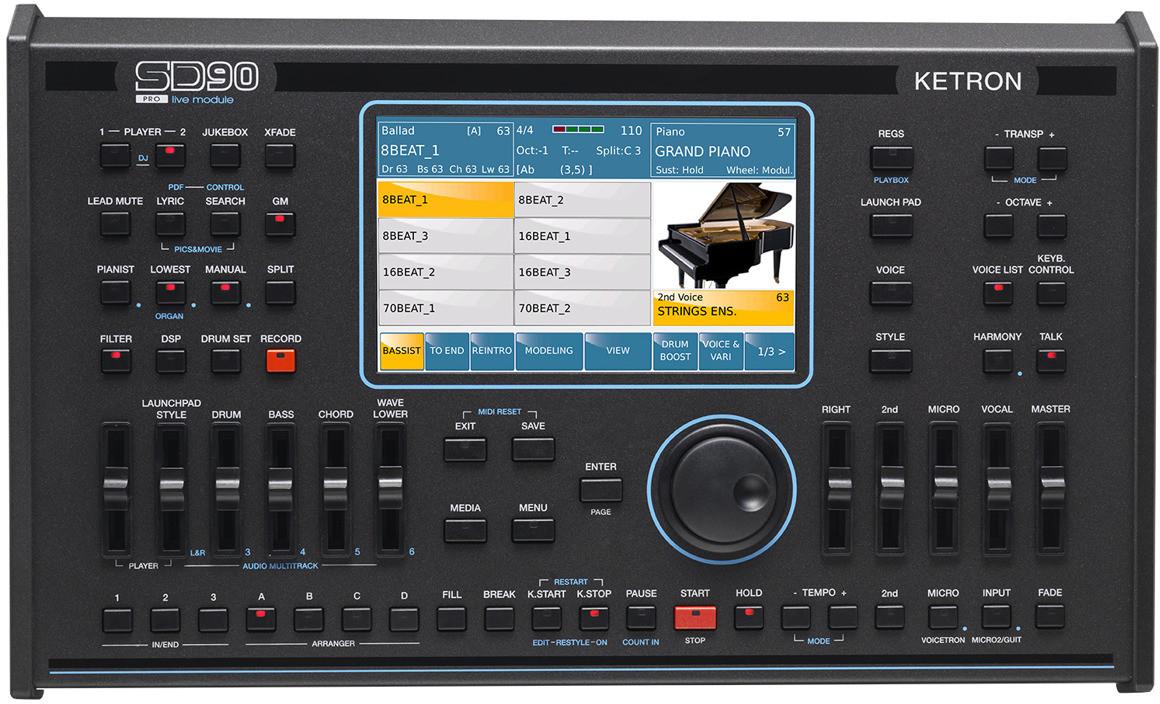 Ketron SD 90 Pro Live Station - Keyboard