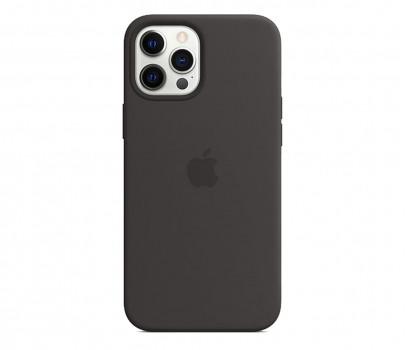 Apple Silikonowe etui iPhone 12 Pro Max czarne