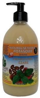 Mydlarnia Powrót do Natury Naturalne mydło potasowe Prawdziwe Szare rycyna melisa w płynie 500 ml PDN11