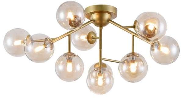 Maytoni Plafon LAMPA sufitowa DALLAS MOD545PL-12G Maytoni modernistyczna OPRAWA szklane kule balls bursztynowe MOD545PL-12G