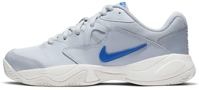 Nike Damskie buty do gry w tenisa na kortach ziemnych NikeCourt Lite 2 - Srebrny