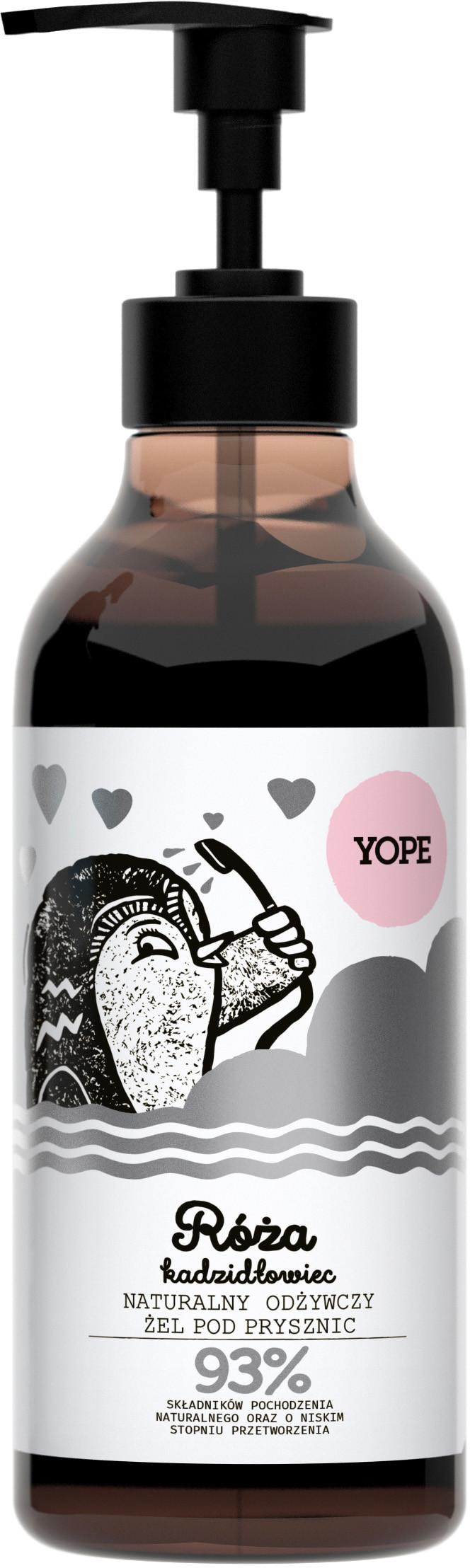 YOPE Odżywczy żel pod prysznic Róża i kadzidłowiec 400 ml