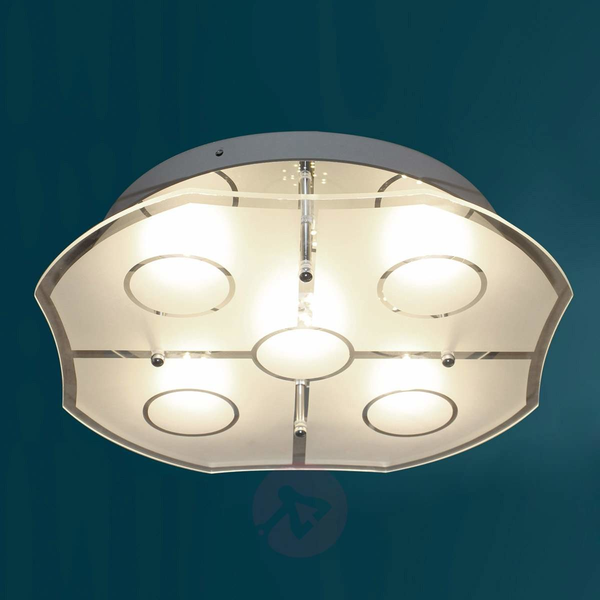 Eco Light ECO Light lampa sufitowa LED Varese, chrom, 1800LM, 30W, 35x 35cm, IP20, w kolorze srebrnym 8708 8708