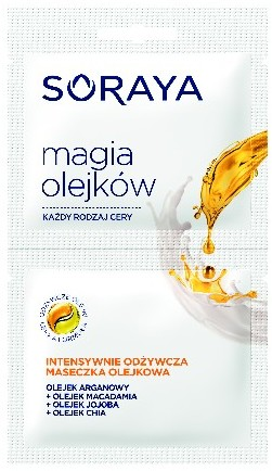 Soraya Magia Olejków Maseczka olejkowa intensywnie odżywcza cera każdego rodzaju 1 szt