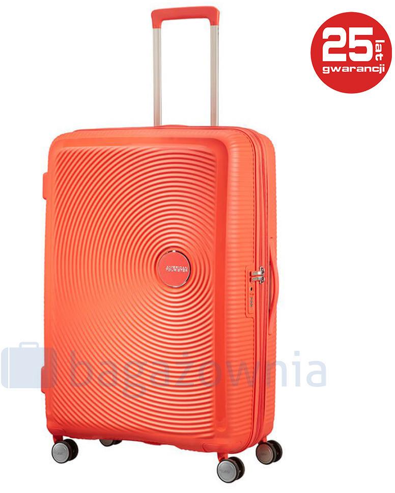 2636e61191dda Samsonite AT by Duża walizka AT SOUNDBOX 88474 Brzoskwiniowa - brzoskwiniowy