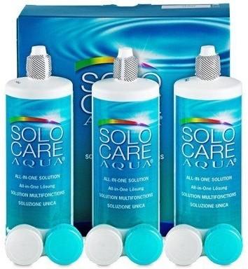 Menicon Zestaw Solo Care Aqua 3x360 ml