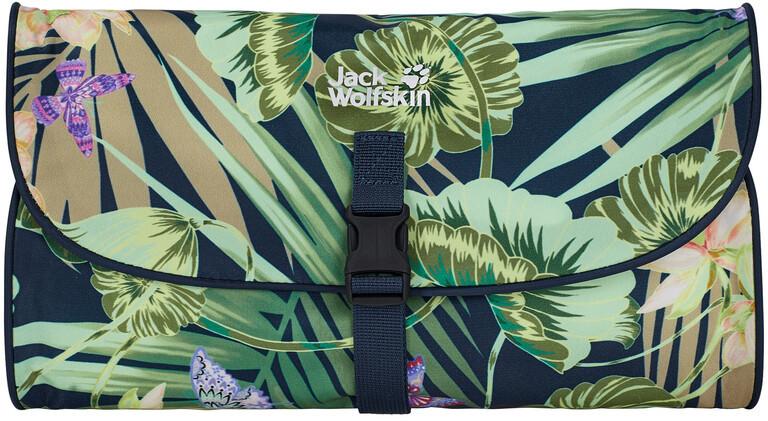 Jack Wolfskin Paradise Spa Wash Bag, midnight blue all over 2021 Kosmetyczki 8007111-7775