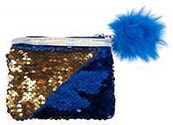 Portmonetka z cekinami STK Niebieska