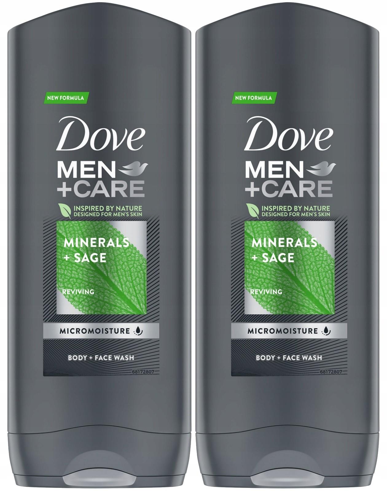 Dove Men Care Clean Comfort Żel Prysznic 2 x 400ml