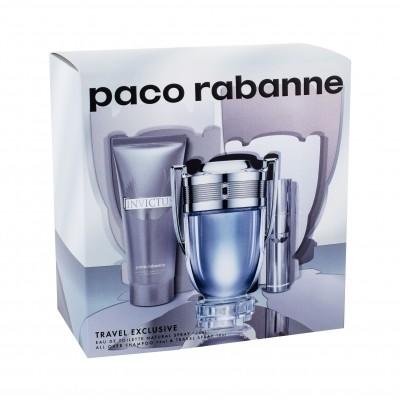 Paco Rabanne Invictus zestaw 100 ml Edt 100 ml + Edt 10 ml + Żel pod prysznic 75 ml dla mężczyzn
