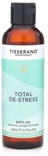 Tisserand Total De-Stress Bath Oil - Olejek do kąpieli Geranium + Pomarańcza + Gałka muszkatołowa (200 ml)
