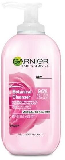 Garnier Botanical Cleanser Soothing Creamy Wash łagodzący kremowy żel Woda Różana 200ml