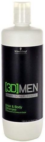 Schwarzkopf 3D MEN SZAMPON HAIR&BODY 1000ml