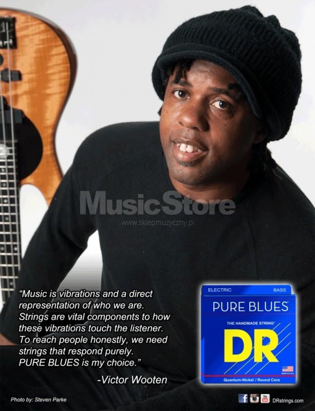 DR Strings pure blues - Bass String Set, 4-String, Light, .040-.100