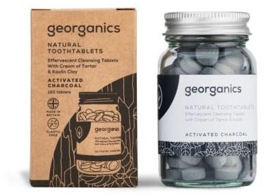 Georganics Tabletki do Mycia Zębów z Węglem Aktywnym, Georganics, 120 tabletek