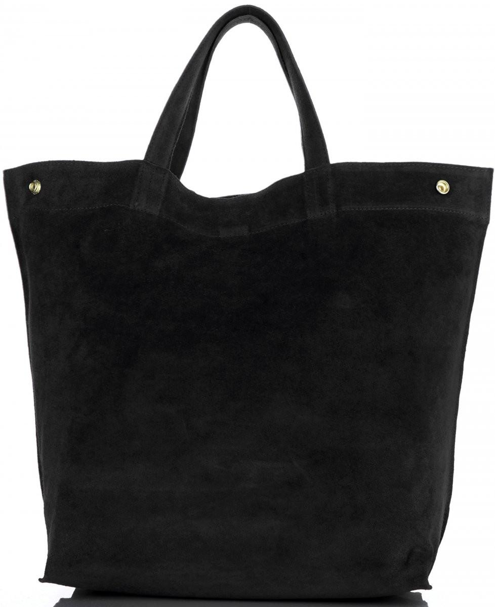 22c5a2ac247cc Vera Pelle Torebki Skórzane Włoski ShopperBag w rozmiarze XL firmy Pelle  Czarny (kolory) A19cz