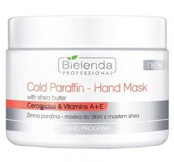 Bielenda Professional Cold Paraffin-Hand Mask With Shea Butter maska do dłoni z masłem shea 150g