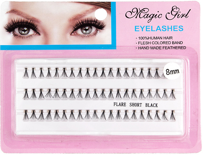 Magic Girl Akcesoria Eyelashes Kępki Rzęs Flare Short Black 8mm