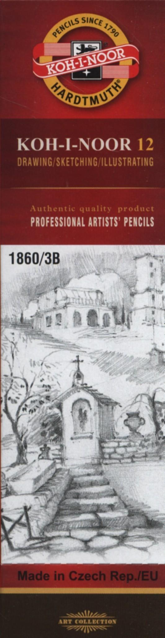 Koh-I-Noor Koh-I-Noor Ołówek grafitowy 1860/3B 12 szt