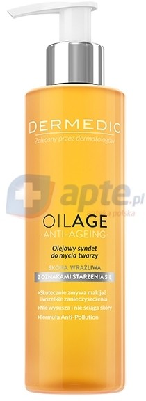 Biogened Dermedic Oilage olejowy syndet do mycia twarzy 200ml