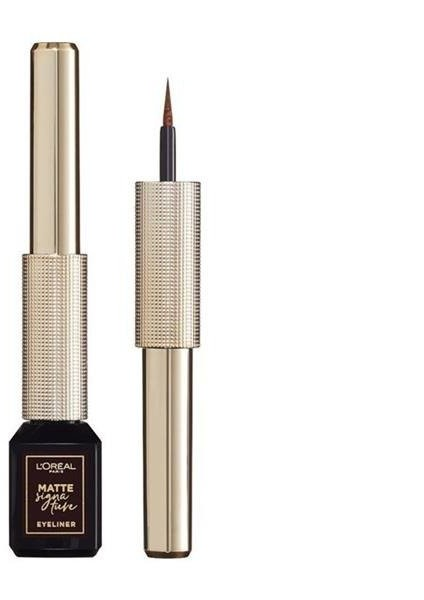 L'Oreal Paris L'Oreal Paris Matte Signature Liquid Eyeliner matowy eyeliner w płynie 03 Marron