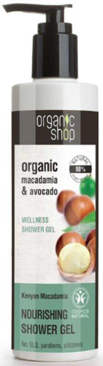 Organic SHOP (kosmetyki) ŻEL POD PRYSZNIC ODŻYWCZY KENIJSKIE ORZECHY MACADAMIA ECO 280 ml - SHOP