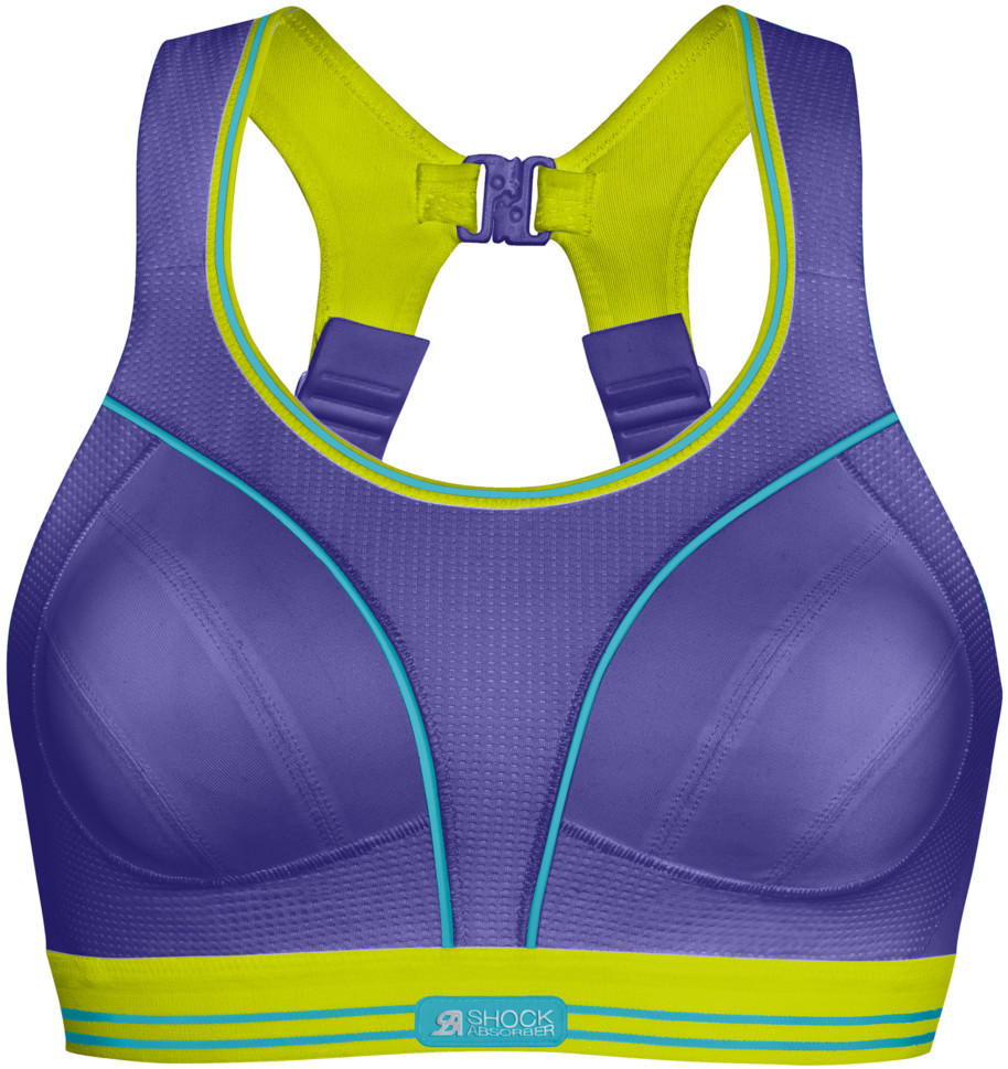 Shock Absorber ULTIMATE RUN BRA FIOLETOWO-ZIELONY S5044-07M
