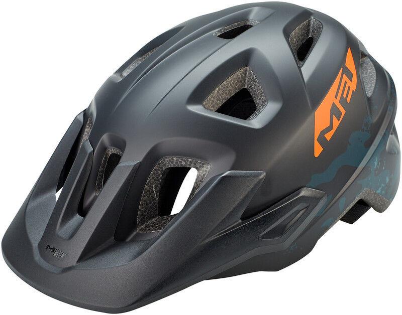 MET Eldar Kask rowerowy Dzieci, black camo 52-57cm 2020 Kaski dla dzieci 57002500