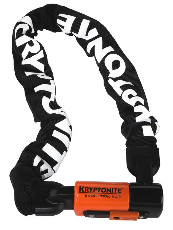 Kryptonite Blokada łańcuch Evolution Series 4 1090 (10 MM X 90 cm), czarny, rozmiar uniwersalny 720018 000808