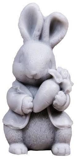 LaQ Happy Soaps Szary Królik z Marchewką naturalne mydło glicerynowe Owocowe 30g 98101-uniw