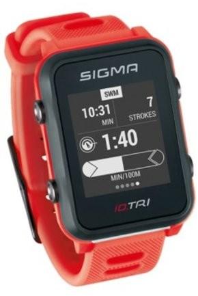 Sigma Pulsometr GPS ID.TRI 24280 czerwony LISP280