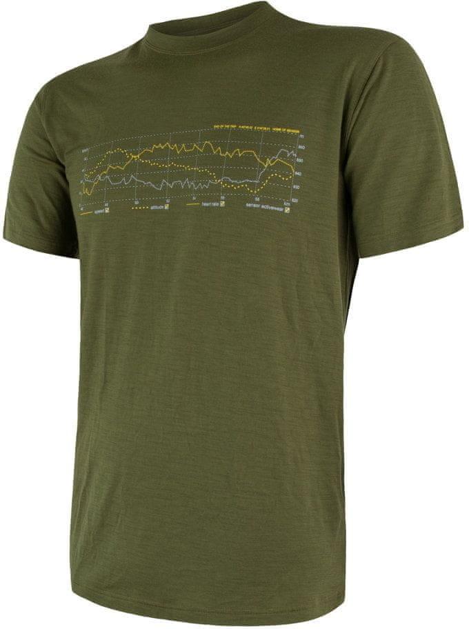 Sensor koszulka męska Merino Active Pt Track z krótkim rękawem Safari XXL