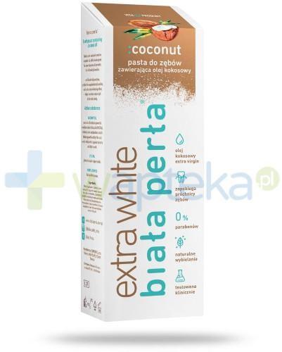 Vitaprodukt Biała Perła Extra White pasta do zębów zawierająca olej kokosowy 75 ml 7078217