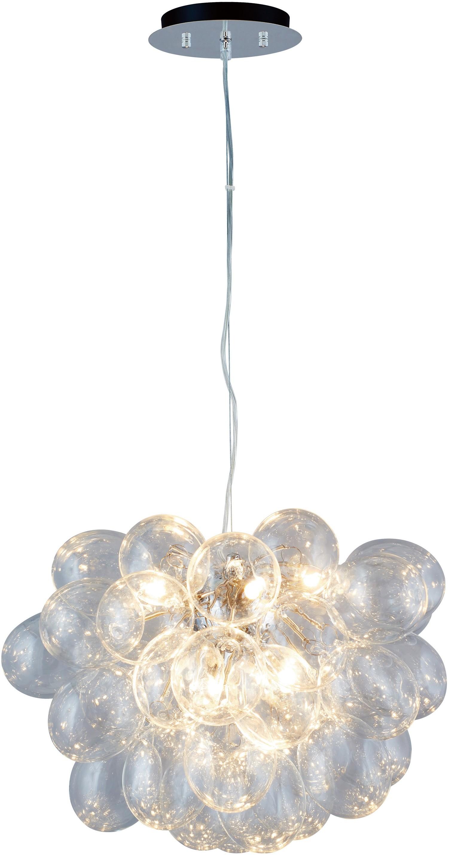 Spotlight LAMPA wisząca GRAPE 5750828 szklana OPRAWA zwis IP20 kule ball przezro