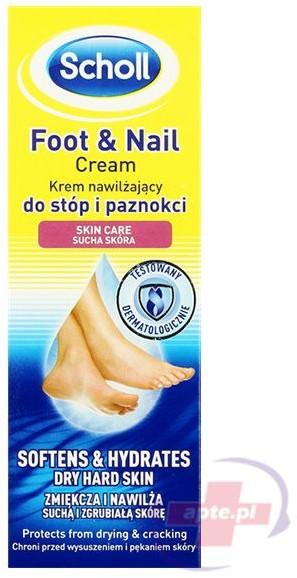 Scholl Foot & Nail Krem Nawilżający Do Stóp i Paznokci 60ml