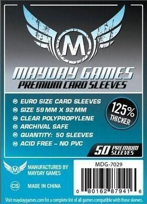 Mayday Games Koszulki Standard Euro 59x92 (50szt) MAYDAY - wysyłka w 24h !!!