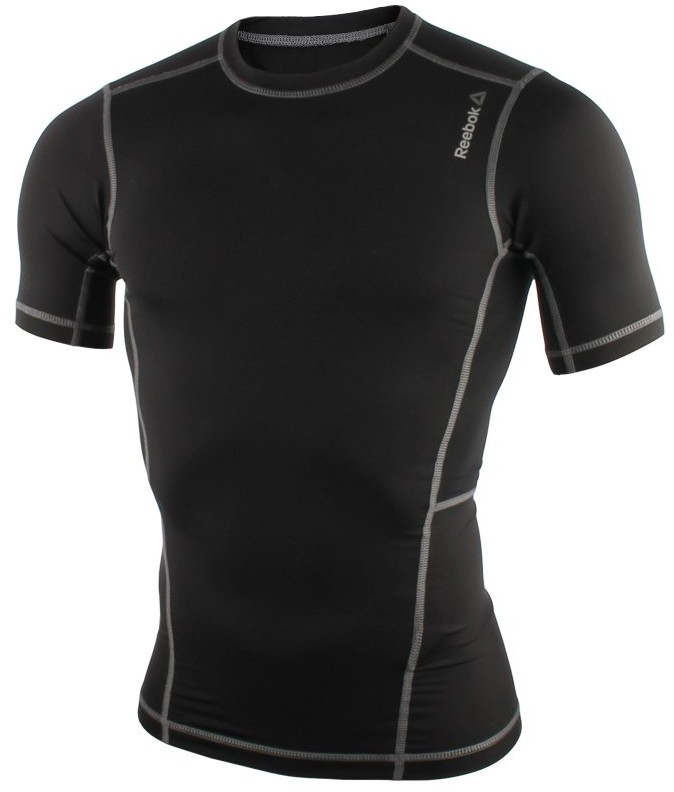 Reebok koszulka kompresyjna męska REEBOK WORKOUT READY COMPRESSION SHORT SLEEVE / AO0606 FUR-242/S