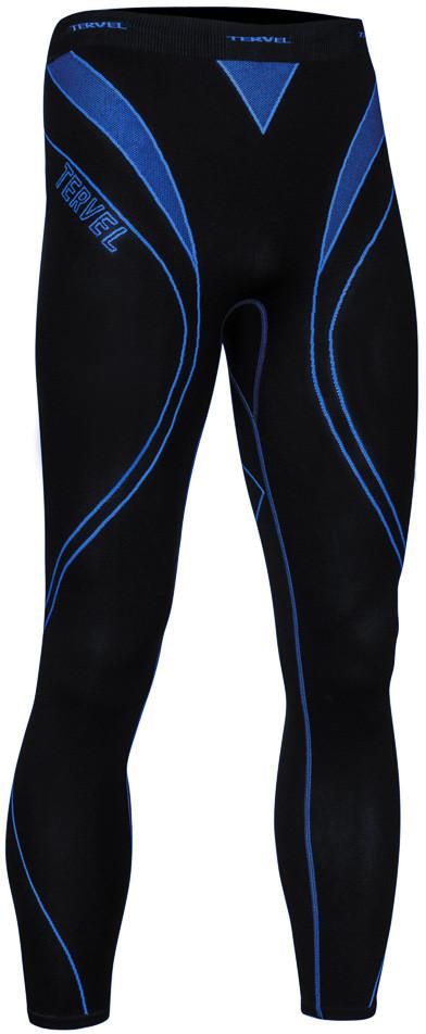 TERVEL OPTILINE męskie spodnie getry termoaktywne OPT3004 czarno-niebieskie