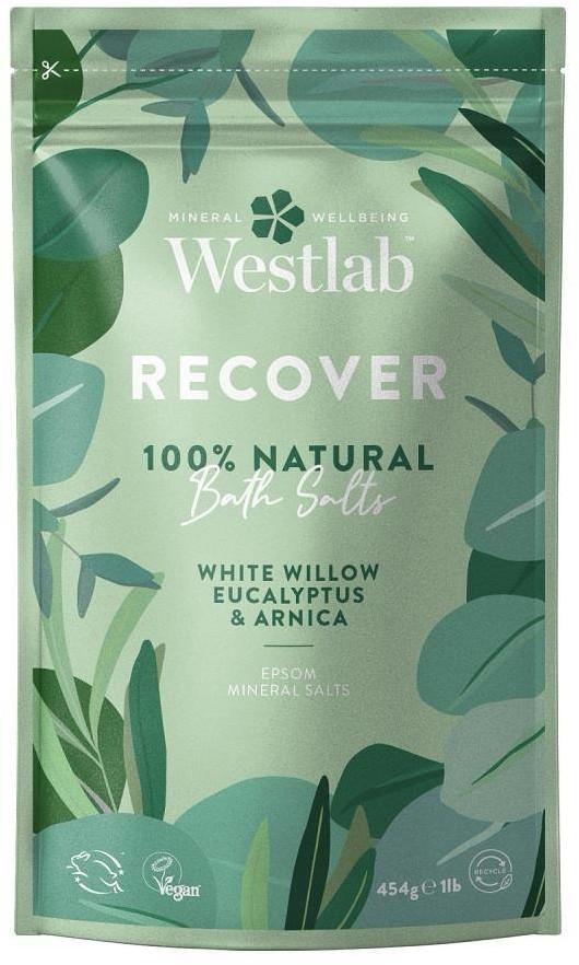 Westlab Westlab Recover Biała Wierzba & Eukaliptus & Arnika 454g regenerująca sól do kąpieli