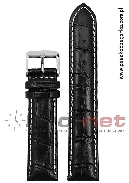 Alfa Pasek PA019/24 - czarny, przeszywany PA019 /24